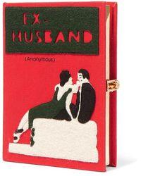 Olympia Le-Tan - Ex-husband Bestickte Clutch Aus Canvas Mit Applikationen - Lyst