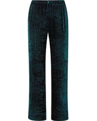F.R.S For Restless Sleepers - Etere Quilted Velvet Straight-leg Trousers - Lyst