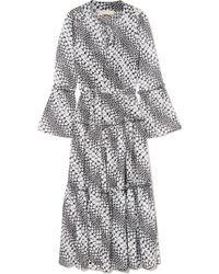 MICHAEL Michael Kors - Tiered Floral-print Georgette Midi Dress - Lyst