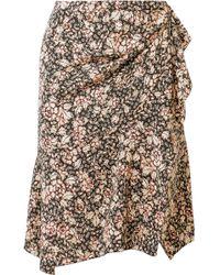 Isabel Marant - Becka Floral-print Silk-blend Mini Skirt - Lyst