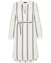 Rag & Bone - Alyse Striped Cotton And Linen-blend Shirt Dress - Lyst