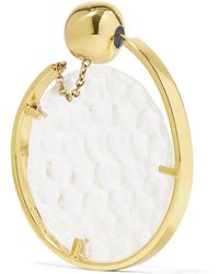 Ellery - Low Art Revolving Gold-plated And Resin Hoop Earring - Lyst