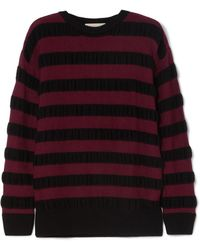 MICHAEL Michael Kors - Striped Merino Wool-blend Sweater - Lyst
