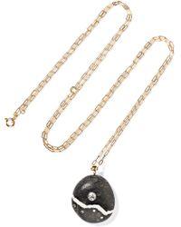 Cvc Stones | Pista 18-karat Gold, Stone And Diamond Necklace | Lyst