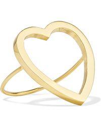 Jennifer Meyer - Open Heart 18-karat Gold Ring - Lyst