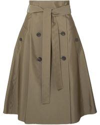 ADEAM - Cotton-blend Gabardine Midi Skirt - Lyst