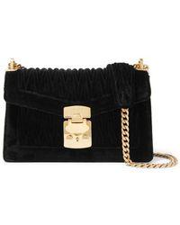 3e62139338c6b Miu Miu - Confidential Matelassé Velvet Shoulder Bag - Lyst