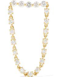 Anita Ko - Bar Loop 18-karat Gold Diamond Earring - Lyst