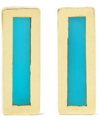 Jennifer Meyer - 18-karat Gold Turquoise Earrings - Lyst