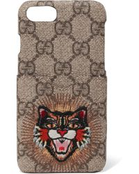 Gucci - Appliquéd Printed Coated-canvas Iphone 7 Case - Lyst