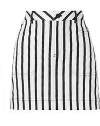 Alice + Olivia - Gail Striped Cotton-blend Twill Mini Skirt - Lyst