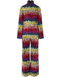 87b8fda902a Ashish - Scalloped Sequined Silk-georgette Jumpsuit - Lyst