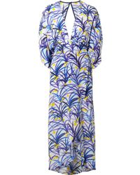 Jaline - Kelly Wrap-effect Printed Silk Crepe De Chine Midi Dress - Lyst