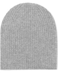 Johnstons - Ribbed Cashmere Beanie - Lyst