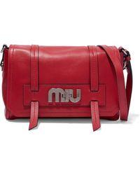 0b26e20112b0 Lyst - Miu Miu Wallets   Cardholders Fuoco in Red