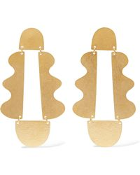 Annie Costello Brown - Matisse Gold-tone Drop Earrings - Lyst