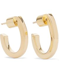 Jennifer Fisher - Square Huggie Gold-plated Hoop Earrings - Lyst