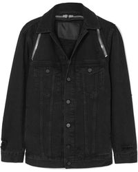 Alexander Wang - Daze Zip-detailed Denim Jacket - Lyst