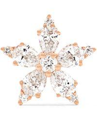 Maria Tash - Snowflake 18-karat Rose Gold Diamond Earring - Lyst