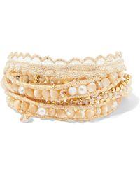 Chan Luu - Gold-plated Multi-stone Wrap Bracelet - Lyst