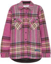 we11done - Plaid Wool Shirt - Lyst