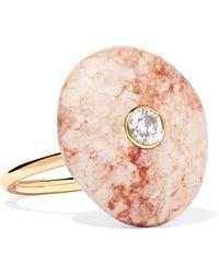 Cvc Stones | 18-karat Gold, Stone And Diamond Ring | Lyst