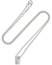 Repossi - Antifer 18-karat White Gold Diamond Necklace - Lyst