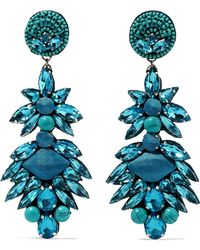 Ranjana Khan - Multi-stone Clip Earrings - Lyst