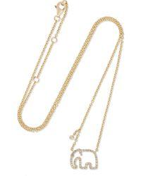 Yvonne Léon - 18-karat Gold Diamond Necklace - Lyst