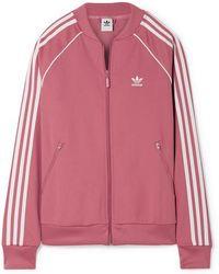 adidas Originals - Sst Striped Jersey Track Jacket - Lyst