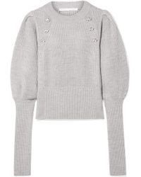 Veronica Beard - Jude Button-embellished Wool Sweater - Lyst