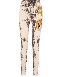 Gucci - Appliquéd Bleached High-rise Skinny Jeans - Lyst