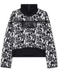 adidas By Stella McCartney - Stretch Jersey-trimmed Floral-jacquard Sweatshirt - Lyst