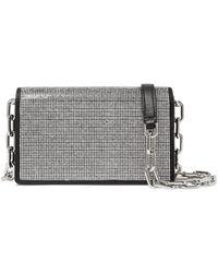 Alexander Wang - Attica Crystal-embellished Leather Shoulder Bag - Lyst