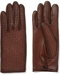 Agnelle - Woven Leather Gloves - Lyst
