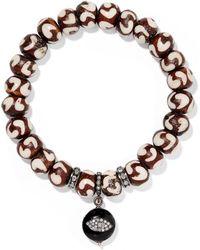 Loree Rodkin - Wood, Silver And Diamond Bracelet - Lyst