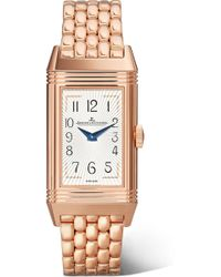Jaeger-lecoultre - Reverso One Duetto Moon 20mm Rose Gold Diamond Watch - Lyst