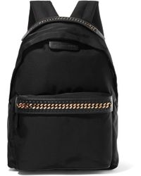 Stella McCartney - The Falabella Faux Leather-trimmed Shell Backpack - Lyst