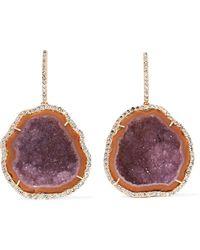Kimberly Mcdonald | 18-karat Rose Gold, Diamond And Geode Earrings | Lyst