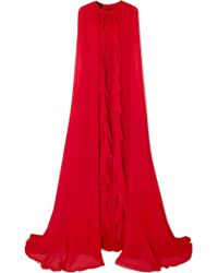 Giambattista Valli - Cape-effect Silk-georgette Gown - Lyst