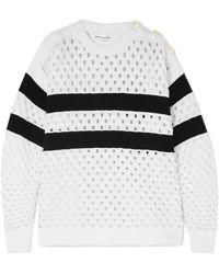 Sonia Rykiel - Striped Open-knit Sweater - Lyst