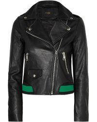 Maje - Leather Biker Jacket - Lyst