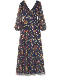 Rachel Zoe - Annabel Fil Coupé Silk-blend Maxi Dress - Lyst