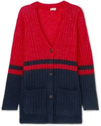 By Malene Birger - Two-tone Ribbed-knit Cardigan - Lyst