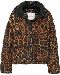 Moncler - Leopard-print Quilted Shell Down Jacket - Lyst