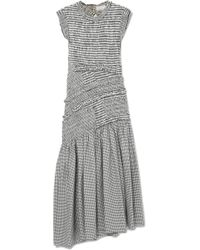 3.1 Phillip Lim - Shirred Gingham Cotton-blend Midi Dress - Lyst