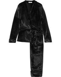 Equipment - Odette Velvet Pajama Set - Lyst