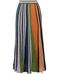 Missoni - Pleated Metallic Stretch-knit Maxi Skirt - Lyst