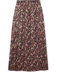 Vanessa Seward - Farida Pleated Floral-print Silk-blend Muslin Midi Skirt - Lyst