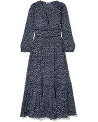 Ulla Johnson - Malena Floral-print Cotton-crepon Midi Dress - Lyst